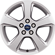 "Alloy Wheel 43.18 cm (17"") 5-spoke design, sparkle silver"